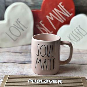"RAE DUNN pink mug ""SOUL MATE"""